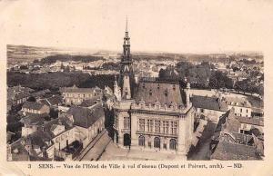 France Senes Vue de l'Hotel de Ville a vol d'oiseau Town Hall