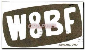 Postcard Old Telegraphie W8BF Cleveland Ohio Baumgardner Lorain Road Clevelan...