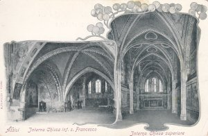ASSISI, Umbria, Italy, 1900-10s; Interno Chiesa inf. s. Francesco, Intrno Chi...