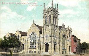 Harrisburg Pennsylvania~Dearry Street United Brethern Church~Gothic Tower 1910