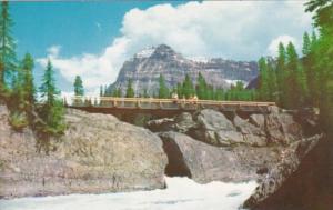 Canada Natural Bridge and Mt Stephen Yoho National Park Alberta