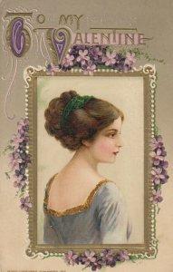 John Winsch 1912, VALENTINE ; Female Portrait