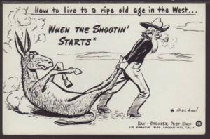 How to Live...,Donkey,Comic,Strader Postcard