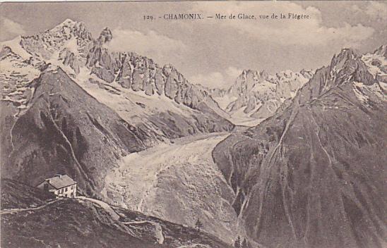 France Chamonix Mer de Glace vue de la Flegere
