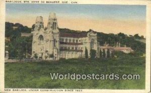 New Basilica, Under Construction 1923 Quebec Canada Unused