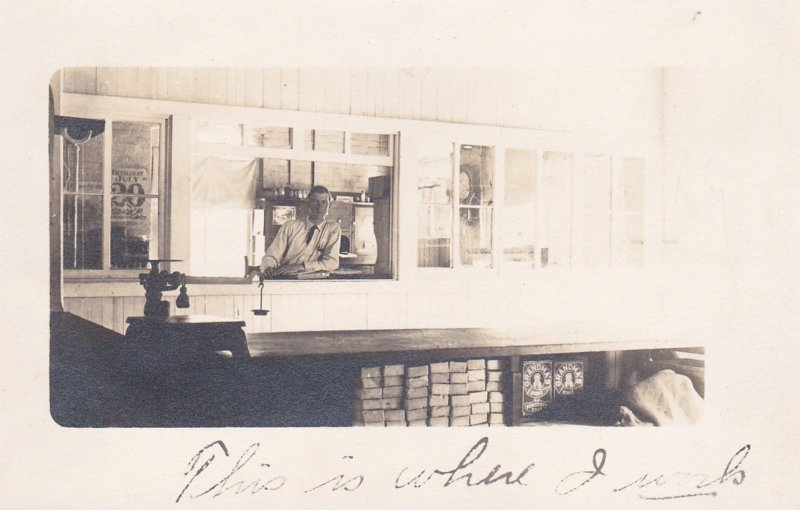 RP, Worker In Window At Postal Parcel Post Office, 00-10 USA