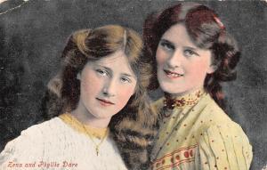 Edwardian Actress Zena and Phyllis Dare Ladies