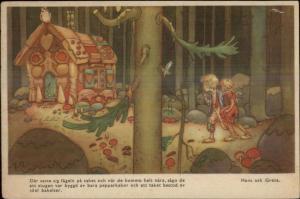 Fairy Tale Hansel & Gretel Swedish Artist Postcard