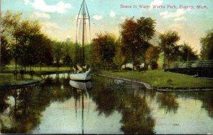 Michigan Detroit Scene In Water Works Park 1911