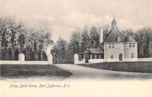 Port Jefferson Long Island NY Lodge Belle Terre Antique Postcard K27993