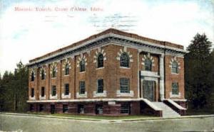 Masonic Temple Coeur d'Alene ID 1913