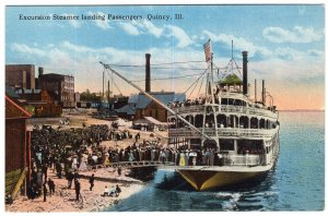 Excursion Steamer landing Passengers, Quincy, Ill