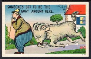 Someone's Got to be the Goat,Goat Butting Man,Comic