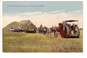 Threshing, near Scott, Saskatchewan,