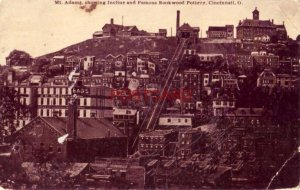 1912 MT. ADAMS, SHOWING INCLINE AND FAMOUS ROOKWOOD POTTERY, CINCINNATI, O.