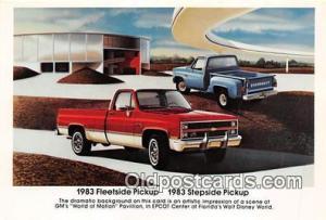 1983 Stepside Pickup Postcard Post Card 1983 Fleetside Pickup