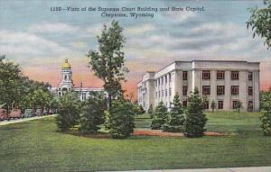 Vista Of The Supreme Court Building And State Capitol Cheyenne Wyoming