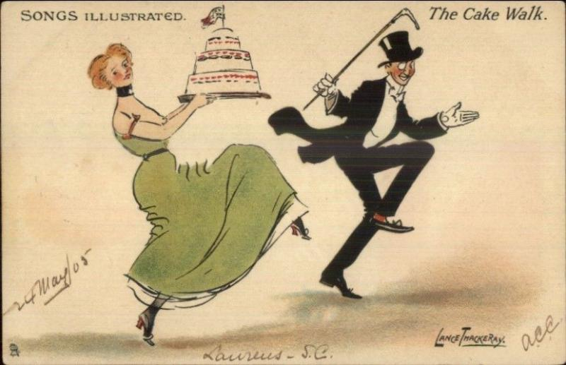 Lance Thackeray Comic Cake Walk TUCK Songs Illustrated 1905 Used Postcard