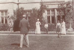 Victorian Tennis Game Group Victoria & Albert Museum London Postcard