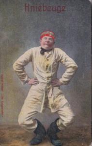 Military Humour German Soldier Kniebeuge Alfred Maetzer Der Urkomische 1917