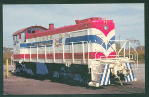 South Buffalo Railway Bicentennial 1776 Patriotic USA Train Railroad Postcard