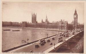 England London Houses Of Parliament and Westminster Bridge