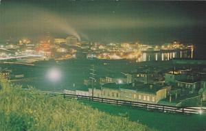 Panoramic Night view of the Harbour and City of Saint John, New Brunswick,  C...