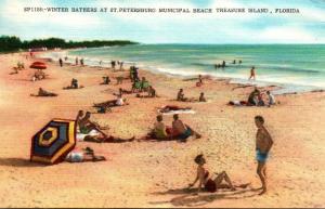 Florida St Petersburg Municipal Beach Treasure Island 1959