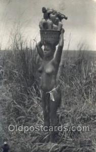 African Nude Nudes Postcard Post Card