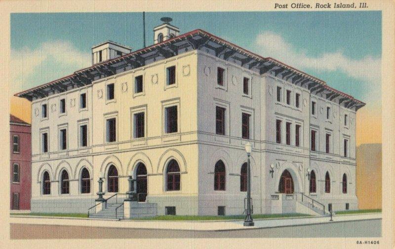ROCK ISLAND , Illinois, 1930-40s , Post Office