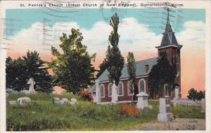 Maine Damariscotta Saint Patricks Church 1926