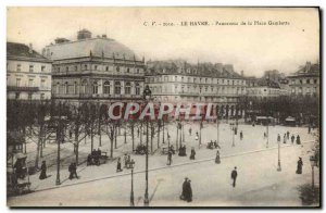 Old Postcard Le Havre Panorama Of The Place Gambetta