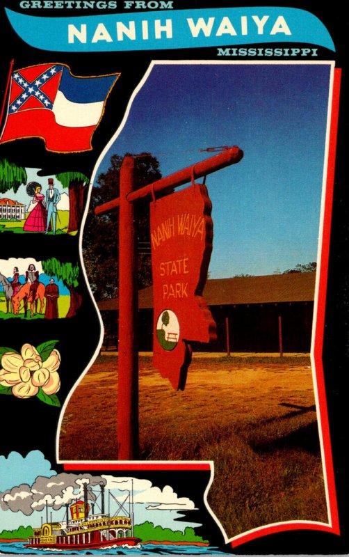 Mississippi Nanih Waiya Greetings Showing State Park Sign