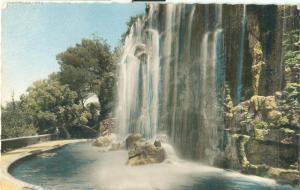 Nice, La Cascade du Chateau, 1958 used Postcard