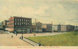 Brockton Massachusetts Montello Street Railroad Holmes C-1910 Postcard 20-10486