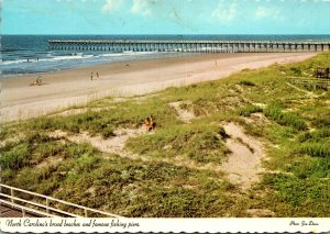 North Carolina Beach Scene and Fishing Pier