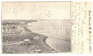 19214 NY  Good Ground 1904 Aerial View of Western Shore of Shinnecock Bay  DP...