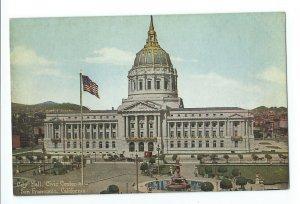 San Francisco Calif City Hall Civic Center Unposted Postcard VPC01.