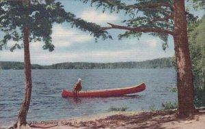 Canoeing Scene In Northern Minnesota