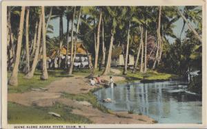 GUAM, Mariana Islands beautiful Agana River 1920s