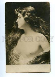 149267 Semi-Nude BELLE w/ Long Hair by Angelo ASTI vintage PC