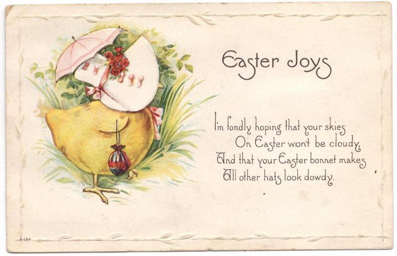 US#499 Rose - On Embossed Easter Post Card