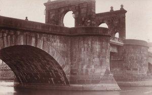 Eesti Tartu Estonia Man Peering Over Bridge Antique Postcard