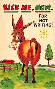 Kick me now for not writing, donkey Animals, Misc, 1965