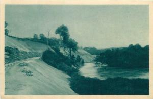 Congo Brazzaville along Djoue scenic Africa early postcard