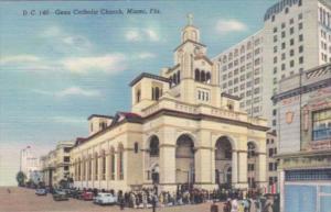 Florida Miami Beach Gesu Catholic Church Curteich