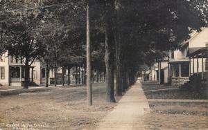 Three Rivers Michigan~East Street North @ Kelsey~Victorian Homes~c1912 RPPC