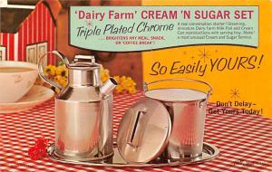 Houseware Advertising Old Vintage Antique Post Card Cream 'n Sugar Set 1...