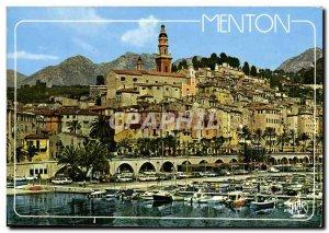 Postcard Moderne Menton Old Town Charter
