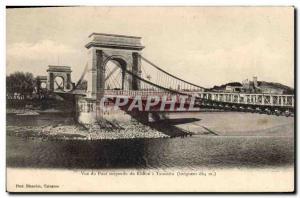 Postcard View of the Old Suspension Bridge Rhone Tarascon